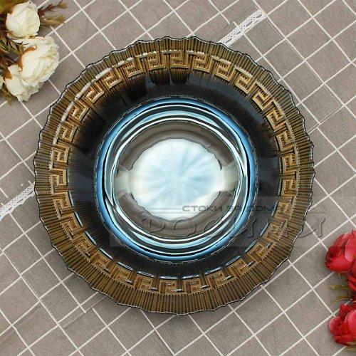 Стъклена купа Златен декор 30 см.