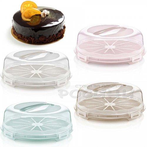 Кутия за Торта 30 см. ниска/кутия с капак за съхранение на торти