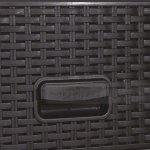 Пластмасов шкаф с 4 чекмеджета Rattan Черен