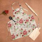 Текстилна престилка с джобове/готварска престилка
