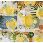 Luminarc Сервиз за хранене 18 части Tahina Жълт на сини цветя