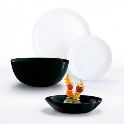 Luminarc Сервиз за хранене 19 части Diwali Black and White