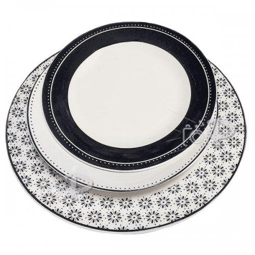 """18 части сервиз чинии за хранене  """"Black and White"""""""