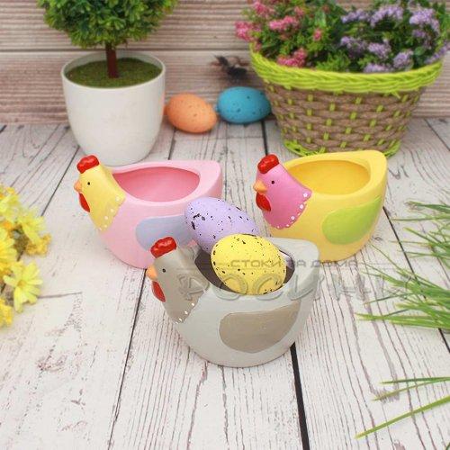 Керамична цветна кокошка за яйца и декорация за Великден