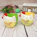 Керамична кокошка с кош/Декорация за Великден
