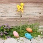 Великденска декорация Пиленце на клечка