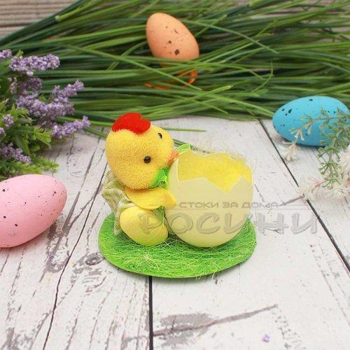 Великденска декорация Пиленце с яйце