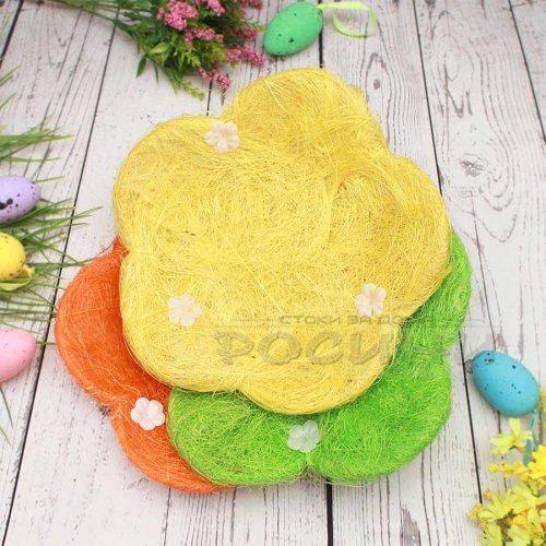 Великденски панер за яйца Цвете 25 см.