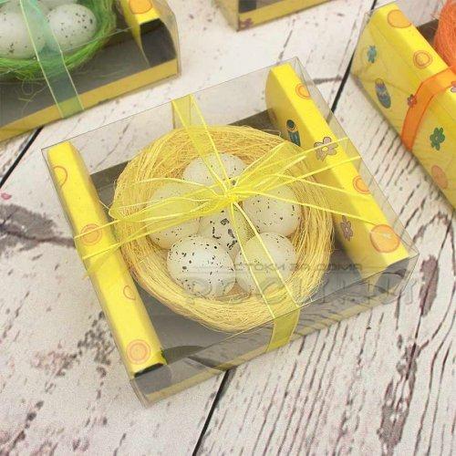 Великденска декорация гнездо с 6 яйца