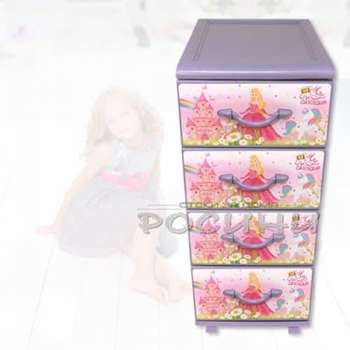 """Детски шкаф за съхранение """"Princess"""" /пластмасови шкафове за детска стая"""