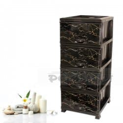 Пластмасов шкаф с четири чекмеджета Гранит/ПВЦ шкаф за дома