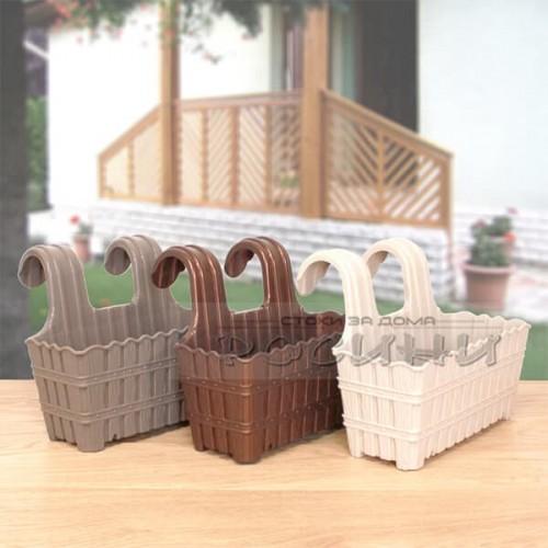 Сандък за парапет, ограда Violet 27 см./сандък за цветя