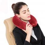 Плюшена възглавница за път с копче/пътническа възглавница