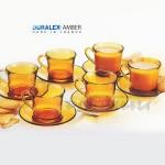 DURALEX Сервиз чаши за кафе с чинийки 12 части 180 мл./Vermeil чаши за кафе