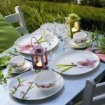 Luminarc Сервиз за хранене 19 части WATER COLOR Бял на розови цветя