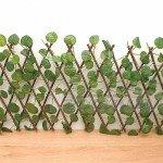 Разтегателна декоративна дървена ограда с листа 40 см.