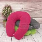 Мека възглавница за път с копче/пътническа възглавница Travel Pillow