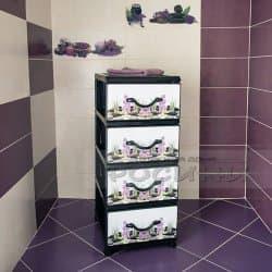 Пластмасов шкаф 4 чекмеджета Люляк