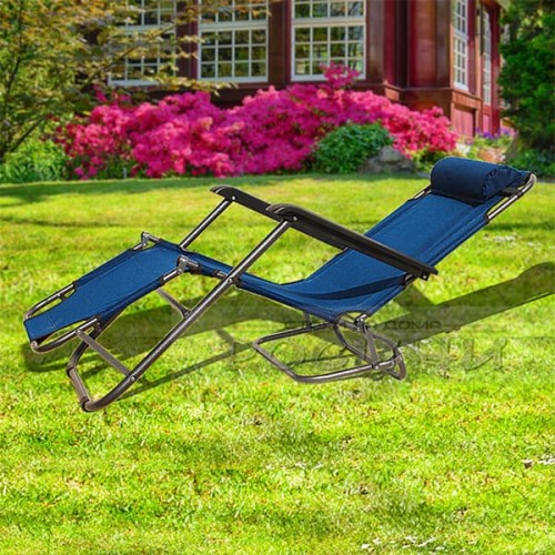 Сгъваем шезлонг/функционален стол за плаж, градина, къмпинг, риболов