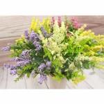 Декоративен букет морски овес/изкуствени цветя за декорация