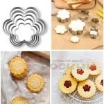 Комплект форми за бисквити и сладки/метални формички за курабии Цвете