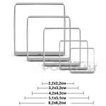 Метални форми Квадрат/комплект от 5 броя резци за сладки