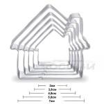 Метални форми Къщичка/комплект от 5 броя резци за сладки