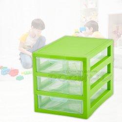 Органайзер универсален с 3 чекмеджета Зелен