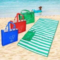 Двустранна рогозка за плаж, пикник, къмпинг/постелка-чанта
