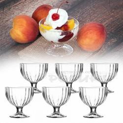 Стъклени чаши за мелба Фламенко/сервиз от 6 броя