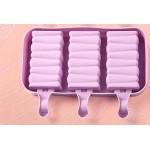 Силиконова форма за 3 бр. сладолед Зиг-Заг/форма за Попсикълс
