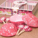 Сет хартиени форми за мъфини и клечки 50 + 24 бр./парти декорация