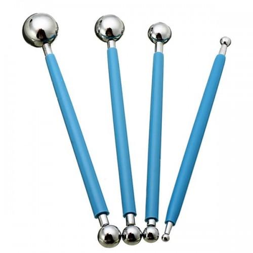 Метални инструменти за моделиране и декориране на торти с фондан/Метални инструменти топчета