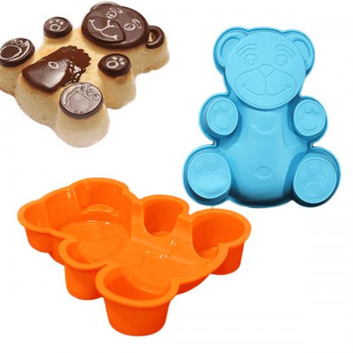"Силиконова форма за шоколад, бисквити ""Мече""/форми за сладки изделия"