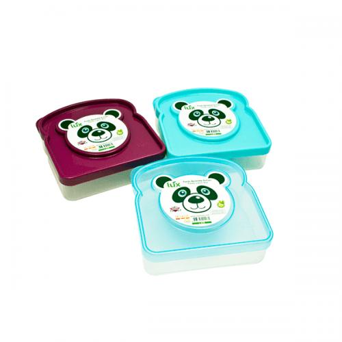 """Кутия за сандвичи 12,5x12см. """"Панда""""/кутия с капак за съхранение"""