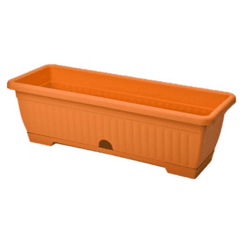 Сандък за цветя в оранжев цвят 48см