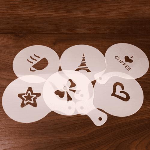 Шаблони за кафе,капучино 6бр./ шаблон за декорация на напитки