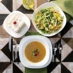 PARMA Сервиз за хранене 19 части/квадратни чинии за сервиране