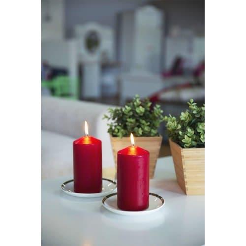 Свещ пура червена 10 см.