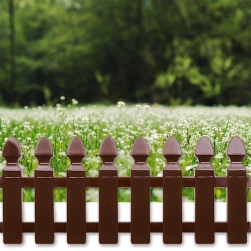 "Декоративна ограда ""Мини"" 24 см. Тъмно кафява"