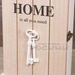 Кутия за ключове с пет закачалки/поставка за ключове