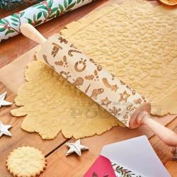 Дървена релефна винтидж точилка с Коледни микс мотиви