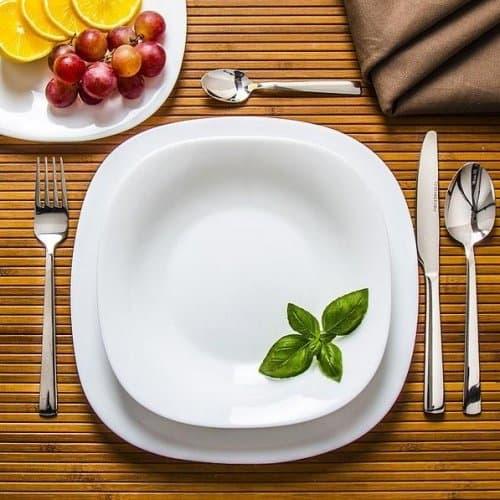 PARMA Сервиз дълбоки чинии 23см./квадратна чиния за хранене