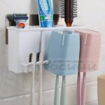 Комбинирана поставка за баня за четки и принадлежности