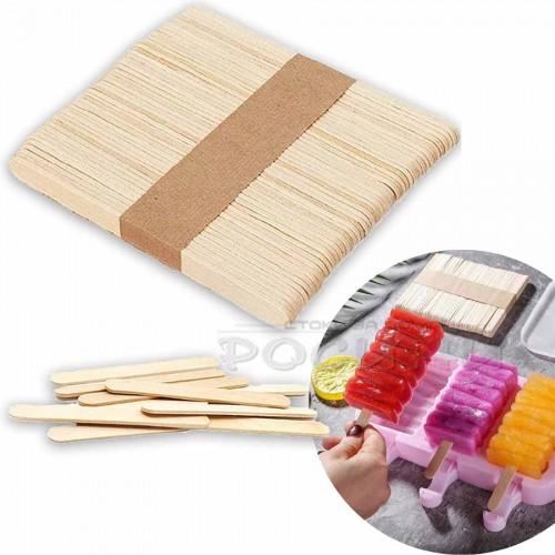 Дървени клечки за сладолед 50 бр. 93х9х2мм./клечки за декупаж и мини макети