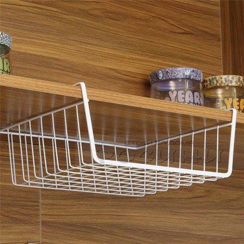 Подвижен метален рафт кошница за пестене на място 31 см./кухненски органайзер за рафт