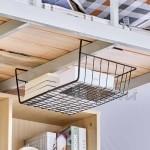 Подвижен метален рафт кошница за спестяване на място 41 см./кухненски органайзер за рафт