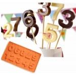 Силиконова форма за шоколад и близалки цифри от 0 до 9/силиконов молд