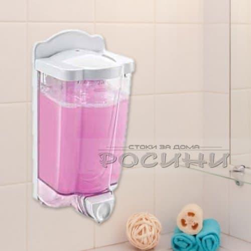 Дозатор за течен сапун 0,9л. / Стенен диспенсър за сапун