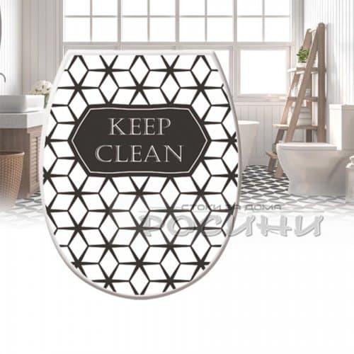 """Капак-седалка за тоалетна чиния """"Keep Clean""""/WC капак"""